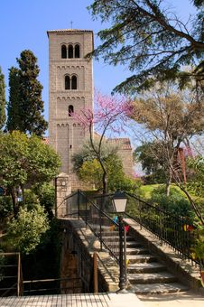 Romanesque Monastery In Poble Espanyol, Barcelona Royalty Free Stock Photo