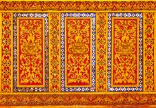 Free Thai Style Lion Pattern Design Stock Images - 19187094