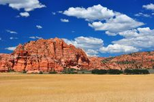 Free Wheat Fields At Zion NP Stock Images - 19187884