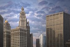 Free Chicago Architecture Royalty Free Stock Photo - 19187885
