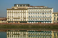 Buildings Along River Arno In Florence Italy Royalty Free Stock Photo