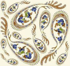 Seamless Background From A Paisley Ornament, Fashi Stock Image