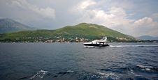Speedboat In Kotor Bay (Montenegro) Royalty Free Stock Photos