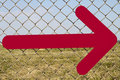 Free Directional Arrow Fence Royalty Free Stock Photos - 19190598