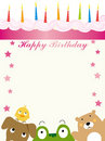 Free Animals Birthday Card Royalty Free Stock Image - 19194456