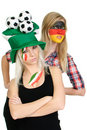 Free Two Sports Fans With Painted Faces Stock Photos - 19196143