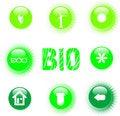 Free Eco Icon Set Green Button Royalty Free Stock Photo - 19196825