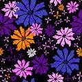 Free Floral Seamless Black Pattern Stock Photo - 19197230