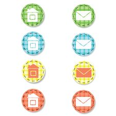 Free Checkered Web Buttons Stock Images - 19190064