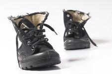 Free Unisex Black Boots Stock Images - 19190124