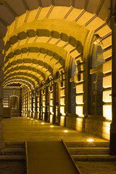 Museum Corridor Stock Image