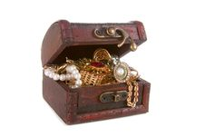 Free Brown Chest With Treasures Royalty Free Stock Photo - 19191015