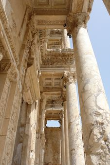 The Column In Efes. Royalty Free Stock Photography