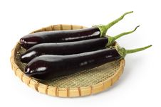 Free Eggplants In Basket Royalty Free Stock Images - 19191089