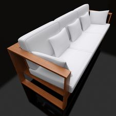 Free 3d White Sofa Royalty Free Stock Photos - 19191538