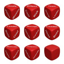 Free Dice Collection Three - Management Stock Photo - 19191790