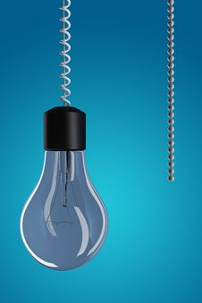 Free Light Bulb With Chain Stock Photography - 19191812