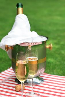 Champagne For Two Stock Photos
