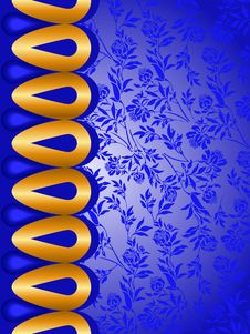 Free Blue Background With Golden Elements Stock Image - 19192071