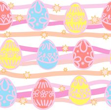Free Seamless Background From Easter Eggs Royalty Free Stock Photos - 19192228