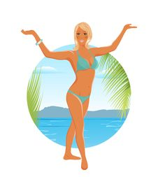 Free Pretty Blond Girl On Summer Background Stock Image - 19192451
