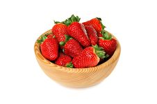 Free Strawberries In Wooden Bowl Royalty Free Stock Photos - 19192708