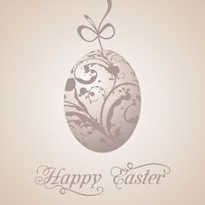 Free Easter Paschal Grunge Egg Royalty Free Stock Image - 19192716