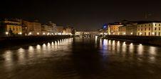 Pont Vecchio At Night Stock Image