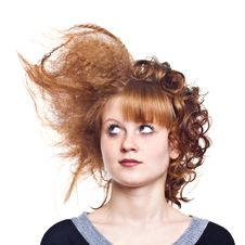 Free Strange Hairdress Royalty Free Stock Photography - 19193007