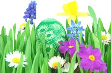 Free Easter Egg On A Spring Meadow Stock Images - 19193524