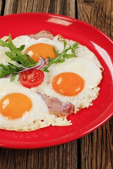 Free Ham And Eggs Royalty Free Stock Photo - 19193555