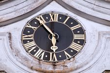 Church Clock Royalty Free Stock Photos