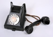 Free An Old Bakelite 1940-1950 Telephone Royalty Free Stock Photography - 19194407