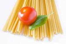 Italian Pasta Tomato And Basil Stock Photos