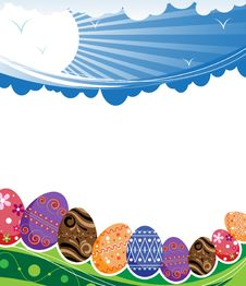 Free Abstract Rural Easter Background Stock Image - 19195411