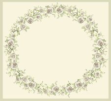 Free Beautiful Decorative Framework With Flowers. Greet Stock Images - 19195754
