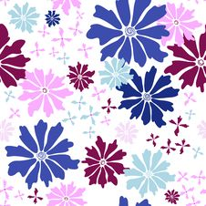 Free Floral Seamless White Pattern Stock Photography - 19196072