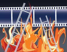 Free Films In Fire Stock Image - 19196121