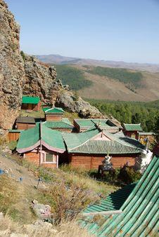 Monastery In Mongolia Royalty Free Stock Image