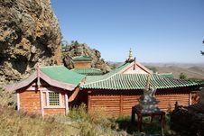 Monastery In Mongolia Stock Image