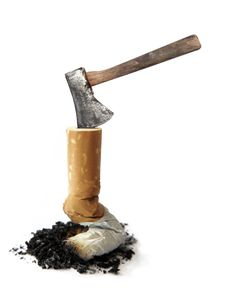 Cigarette And Axe Stock Photos