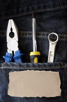 Free Tools  Jeans Stock Photos - 19196343