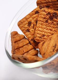 Free Crunchy Cookies With Choco Chips Stock Photos - 19196793