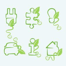 Free Green Concept Icons. Stock Photo - 19197450