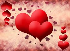 Free Red Hearts Stock Image - 19197751