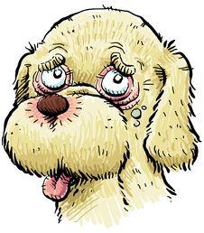 Free Sick Cartoon Puppy Stock Photography - 19197922
