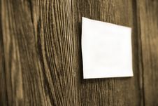 Free White Sheet On A Wooden Fence Royalty Free Stock Photos - 19197928