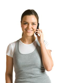 Free Girl Talking On A Mobile Phone Royalty Free Stock Photo - 19197965