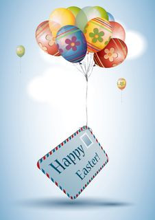 Free Easter Egg Style Balloons Stock Photography - 19198302