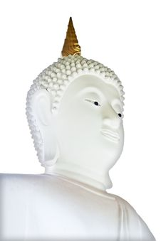 Free White Buddha Isolated Background Royalty Free Stock Photos - 19198488